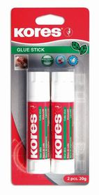Kores Glue Stick 2 x 20g Blister Pack