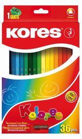 Kores Kolores 36  Triangular Coloured Pencils and 1 Sharpener