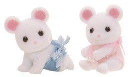 Sylvanian Family White Mouse Twins