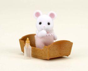 Sylvanian Family White Mouse Baby