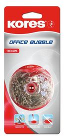 Kores Office Bubble - 100 Paper Clips In Dispenser