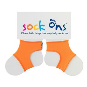 Sock Ons - Bright Orange Baby Socks - (Size: 6 - 12 months)