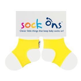 Sock Ons - Bright Yellow Baby Socks - (Size: 6 - 12 months)