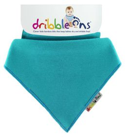 Dribble Ons - Bright Baby Bib - Turqouise