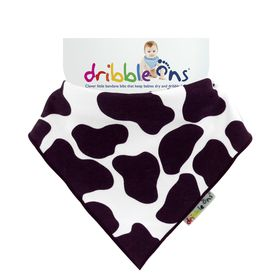 Dribble Ons - Design Baby Bib - Cow Print