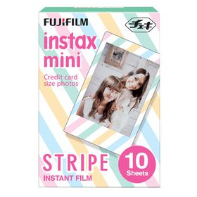 Fujifilm Instax Mini Film Mini Stripe Film Pack of 10