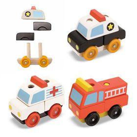 Melissa & Doug Stacking Emergency Vehicles