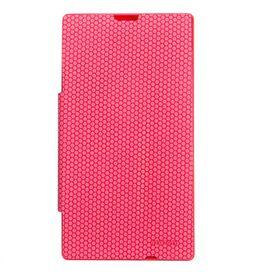 Mozo Nokia Lumia 520 Flip Cover - Pink