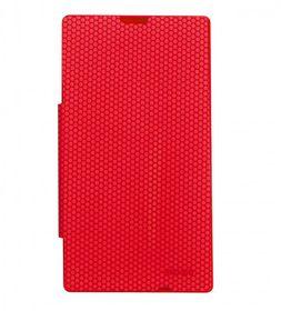 Mozo Nokia Lumia 520 Flip Cover - Red