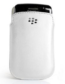 BlackBerry 9720 Pocket Leather Case - White