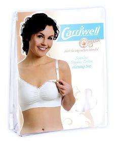 Carriwell - Seamless Organic Cotton Nursing Bra - White (Size: Extra Large)