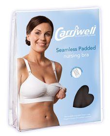 Carriwell - Seamless Padded Adjustable Nursing Bra - Black
