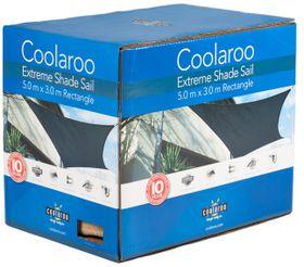 Coolaroo - Extreme Shade Sail Rectangle 5 x 3m - Charcoal