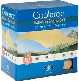 Coolaroo - Extreme Shade Sail Square 3.6m - Desert Sand