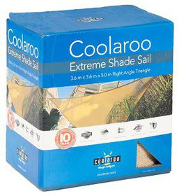 Coolaroo - Extreme Shade Sail Right Angle Triangle 3.6 x 3.6 x 5m - Desert Sand