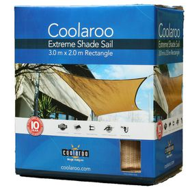 Coolaroo - Extreme Shade Sail Rectangle 2 x 3m - Desert Sand