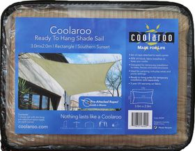 Coolaroo - Ready To Hang Shade Rectangle Sail 2 x 3m- Southern Sunset