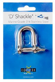 Coolaroo - 'D' Shackle Marine Grade 316 - Stainless Steel