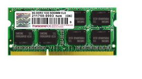 Transcend 8GB DDR3-1333 Notebook Memory