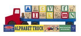 Melissa & Doug Wooden Alphabet Truck