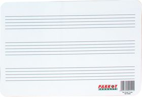 Parrot Plastic 297x210mm Music Lines Writing Slate