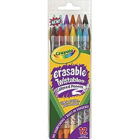 Crayola Back To School 12 Erasable Twistable Pencil