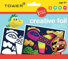 Tower Kids Creative Foil - Aeroplane