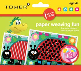Tower Kids Paper Weaving Fun - Ladybug