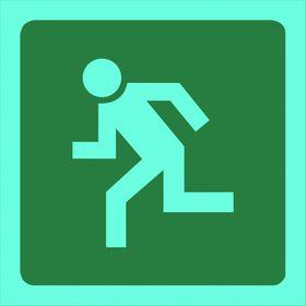 Tower Photoluminescent Sign - Man Running Left