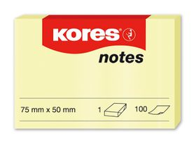 Kores Yellow Notes - 75x50mm (100 Sheets)