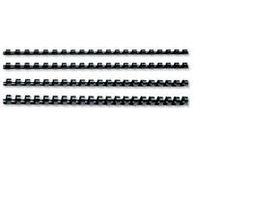 GBC 10mm 21 Loop PVC Binding Combs - Black (25 Pack)