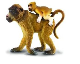 CollectA Baboon Female With Baby - Large