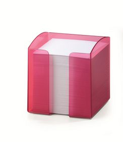 Durable Paper Note Box - Translucent Light Pink