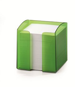 Durable Paper Note Box - Translucent Light Green