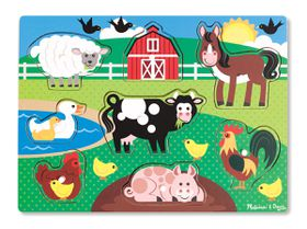 Melissa & Doug Farm Peg Puzzle - 8 Pieces