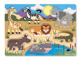 Melissa & Doug Safari Peg Puzzle - 7 Piece
