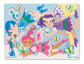 Melissa & Doug Dress-Up Fairies Peg Puzzle - 9 Piece