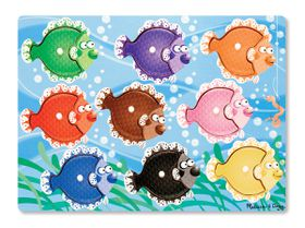 Melissa & Doug Colourful Fish Peg Puzzle - 9 Piece