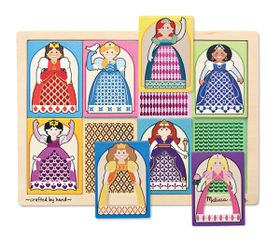 Melissa & Doug Peek-Through Puzzle Princesses