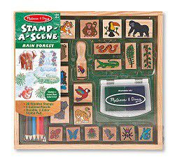 Melissa & Doug Stamp-a-Scene Rain Forest Stamp Set