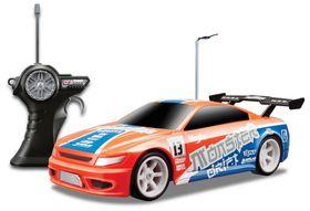 Maisto Remote Control Monster Drift Ready To Run - Alkalines Orange & Blue