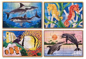 Melissa & Doug Sea Life Puzzles in a Box - 12 Piece
