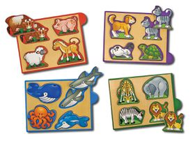 Melissa & Doug Animal Mini-Puzzle Pack - 4 Piece