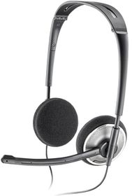 Plantronics .Audio 478 Foldable Stereo Headset with DSP Technology - Black/Grey