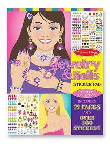 Melissa & Doug Jewelery and Nails Glitter Sticker Pad