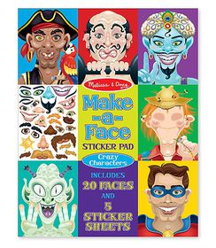 Melissa & Doug Make a Face Crazy Character Sticker Pad