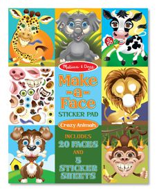 Melissa & Doug Make a Face Sticker Pad - Crazy Animals