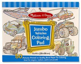Melissa & Doug Jumbo Colouring Pad - Vehicles