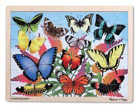 Melissa & Doug Butterfly Garden Wooden Jigsaw Puzzle - 48 Piece