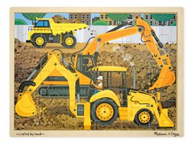 Melissa & Doug Construction Jigsaw - 24 Piece